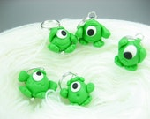 Cute little Martian Alien Stitch Markers (set of 5)