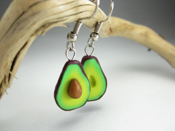 Avocado Earrings - Food Jewelry