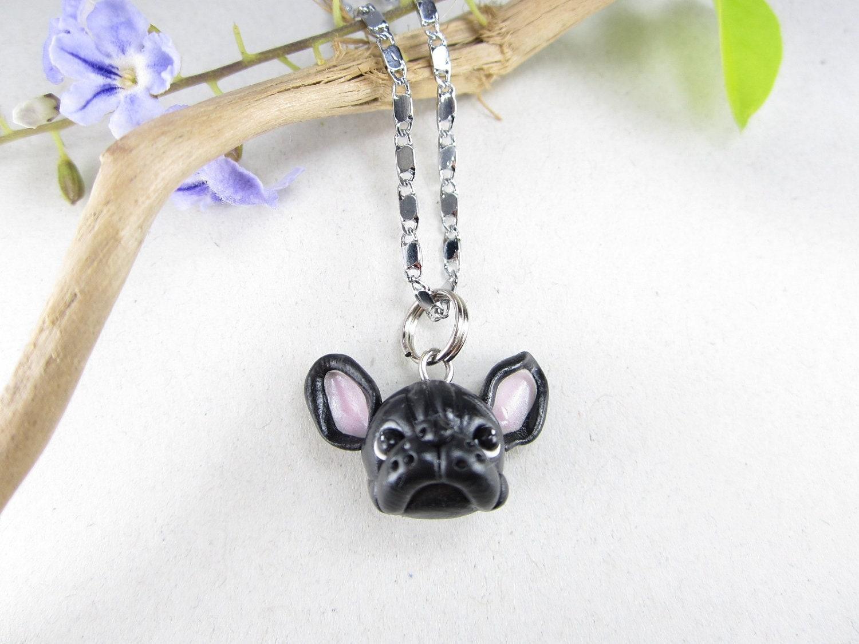 black bulldog necklace jewelry by beadpassion