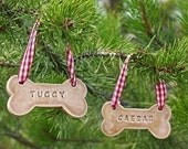 Personalized Dog Bone Ornament - Made To Order