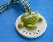 Personalized Sea Turtle 3D Ornament - Custom Made to Order