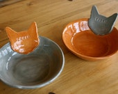 Personalized Kitty Cat Bowl Dish - 6 inches - Custom Made to Order