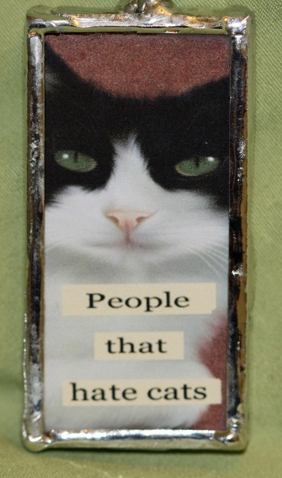 People that Hate Cats/ Glass Pendant/