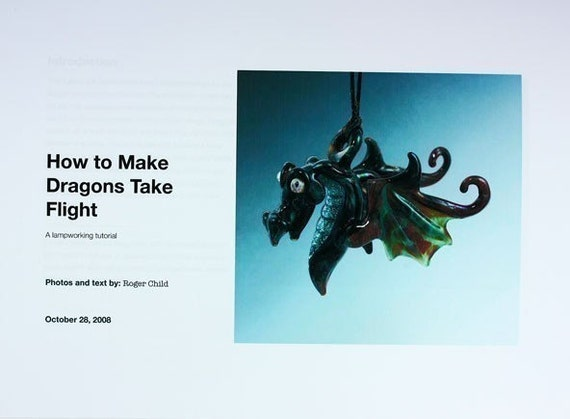 Lampworking Tutorial-How to Make Glass Dragon Wings Technique-e-book