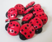 Lady Bug Buttons by Favorite Findings