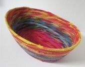 Medium Rainbow Basket-- Pinks on the Bottom