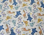 Jumping Jamboree Zoo Animals Fabric-- ONE YARD