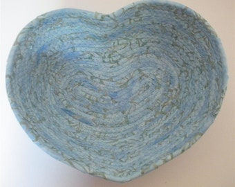 Small Windswept Blue Heart Bowl