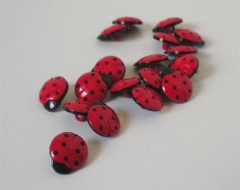 Lady Bug Buttons by Buttons Galore