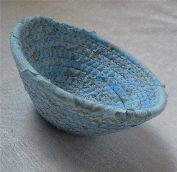 Itty Bitty Windswept Blue Bowl