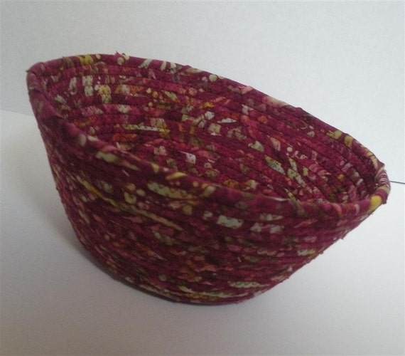 Large Burgundy and Green Bowl