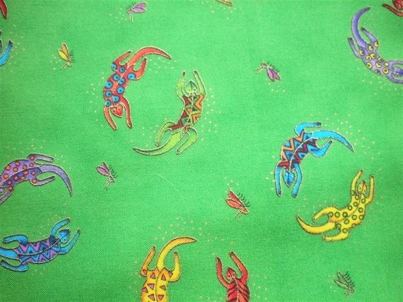 Secret Jungle Lizards by Laurel Burch Fabric-- ONE yard