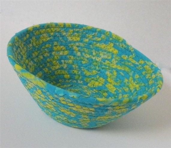 Small Aqua and Yellow Bowl