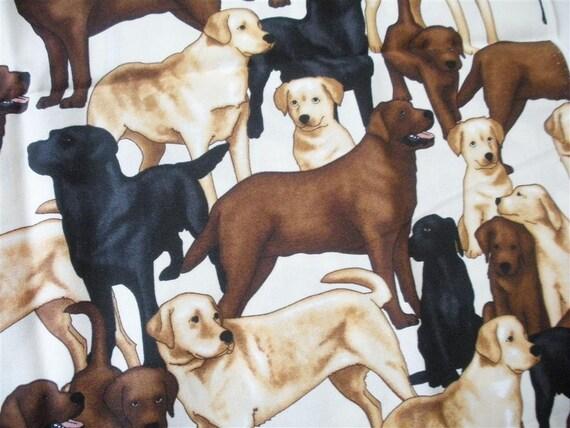 Labrador Retriever Dog Fabric-- ONE YARD
