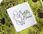 One-Size Pocket Diaper -- Olive\/Brown Paisley