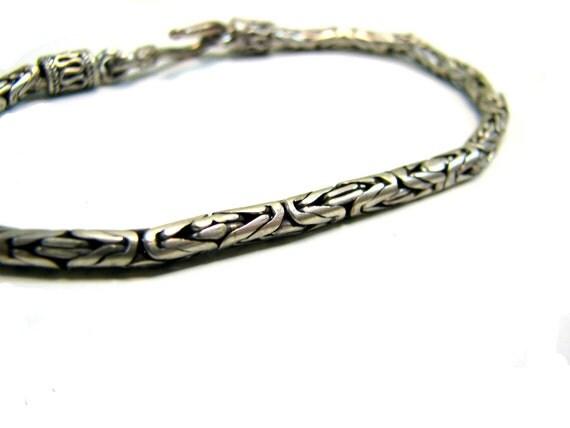 Oxidized Sterling Link Bracelet no1 - Vintage - Vintage Sterling