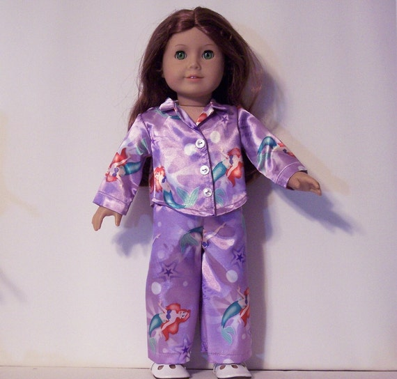 AMERICAN GIRL CLOTHES Disney Ariel Mermaid Satin Pajamas