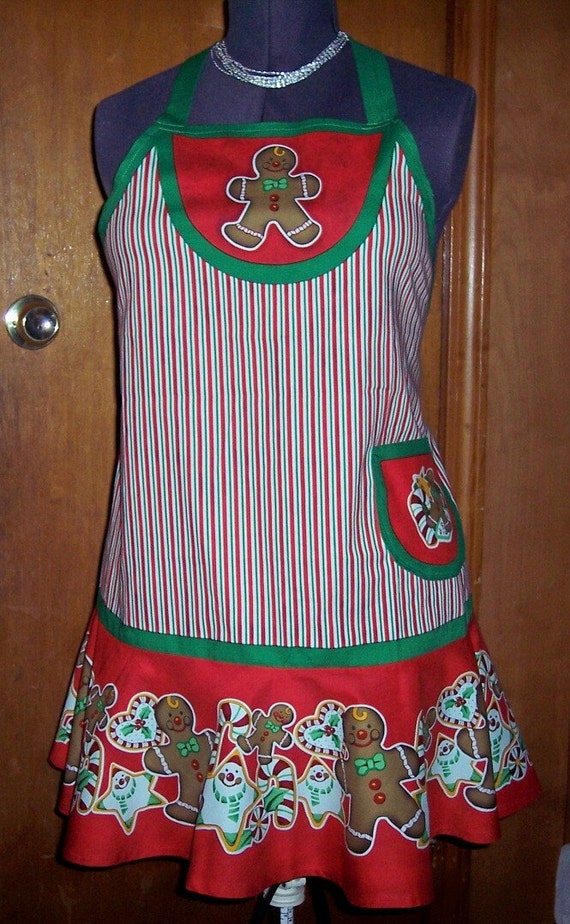 Make Your Own Christmas Gingerbread Man Apron