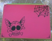 Pink Pouch with Skullerfly