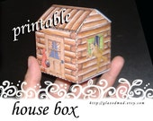 CRAFTS - The Red Riding Hood HOUSE BOX , template, pdf download, children's crafts, do it yourself