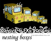 Crafts - The Yellow Mini Car 5-Car Box Set, template, pdf download, children's crafts, do it yourself