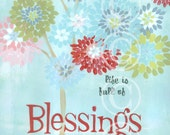 Life is Full of Blessings - retro sign art print