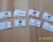 FLASH CARDS (SET 1) - 'Olelo Hawai'i / English - 4 THEMES of 10 cards each (40 cards)