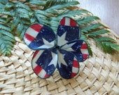 Red, White and Blue Star Hair Pick