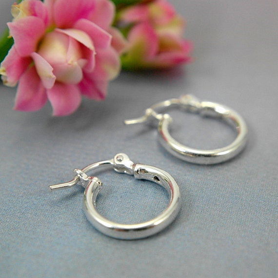small hoop earrings for second 12mm tiny hoop earrings 925 sterling silver half inch 5463