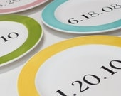 A Date To Remember Personalized Large Plate