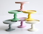 Cupcake Pedestals Set of Eight by Aedriel Originals- Ceramic Kiln-Fired  and Packaged for Gift Giving or Favors