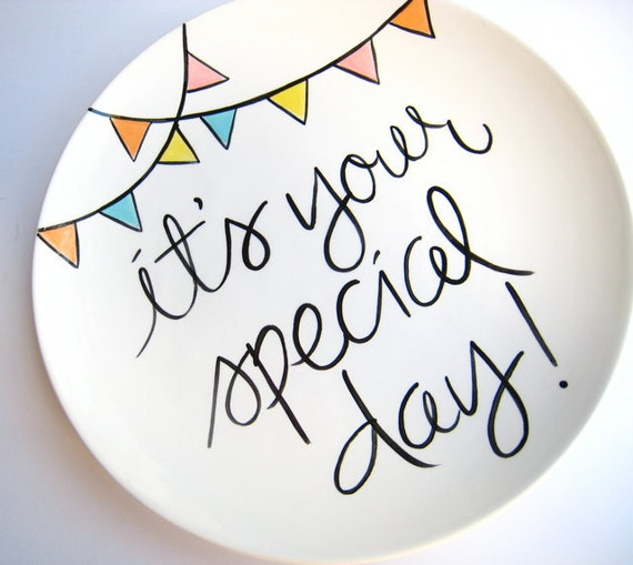 It's Your Special Day Large Plate by Aedriel Originals