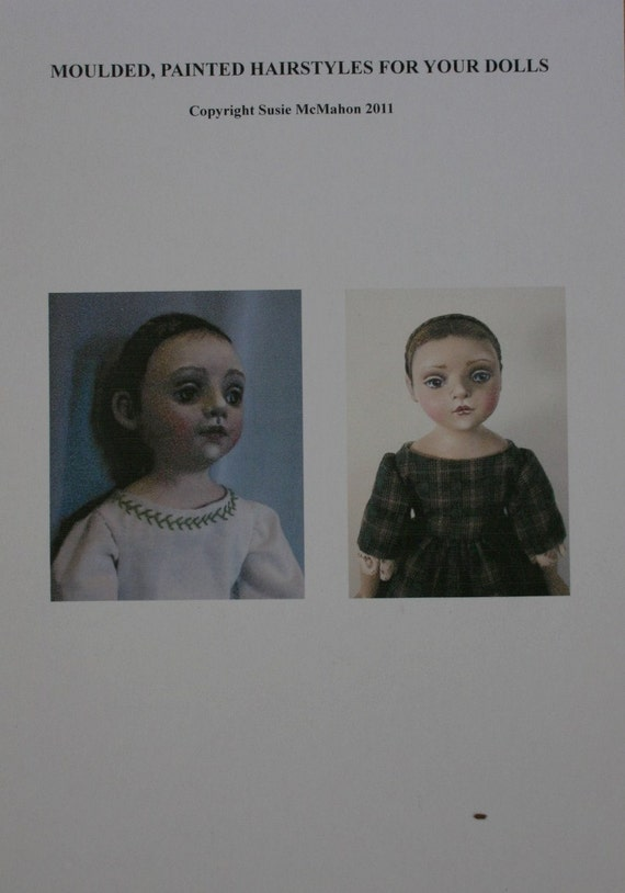 Creating moulded painted hairstyles for your dolls. PDF