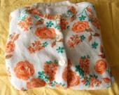 Vintage 1950s 1960s floral cardigan M L