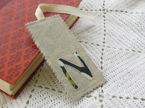 Monogrammed Bookmark - Initial N - Letter N - Teacher Gift - Classroom Gift - Party Favor - Bridal Shower Gifts