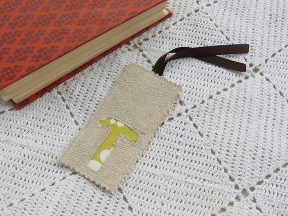 Monogrammed Bookmark - Monogram T - Initial T - Letter T - Teacher Gift