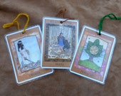 Goddess Tarot Card Bookmarks upcycled