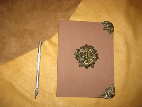 Handmade Green Man pagan blank book journal book of shadows DESTASH