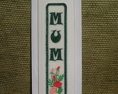 Embroidered bookmark card