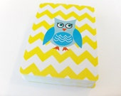 Owl with Yellow Chevron - Deck of Playing Cards