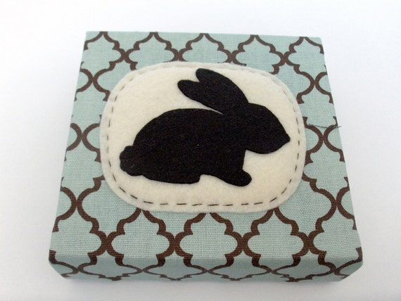 Bunny Rabbit Silhouette Wall or Shelf Art