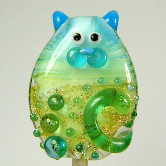 Lampwork Cat Bead Luxe Kitty Focal by keiara SRA
