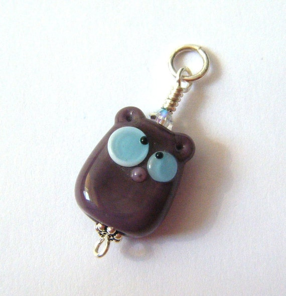 RESERVED Lampwork Hamster Bead Paco Lil Bit Hamster Critter Pendant and Hat by keiara SRA