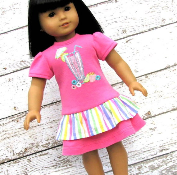 Palm Springs - American Girl Doll Clothes Dress, reconstructed Gymboree