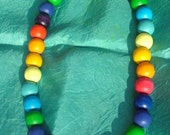 Wooden Rainbow Play Necklace
