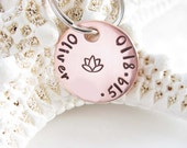 Custom Pet Tag - Pet Identification Tag - Hand Stamped Petite Copper - Hand Made - Small Tag for Dogs and Cats - Copper Tag - Personalized