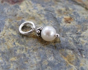 Add a Pearl Dangle - Fresh Water Pearl and Sterling Silver - Hand Made