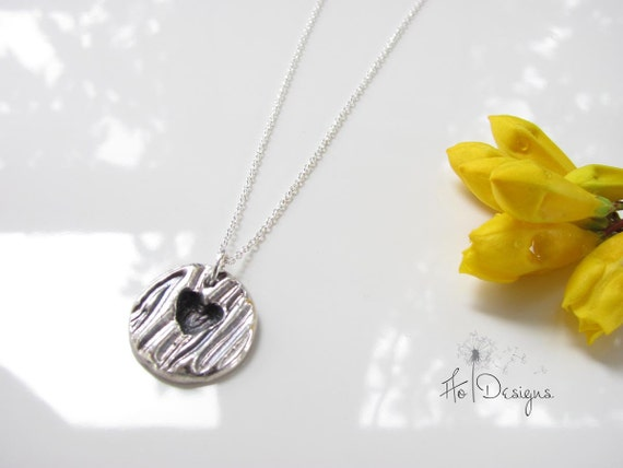 Carved Heart - Hand Made from Fine Silver - I Give You My Heart......