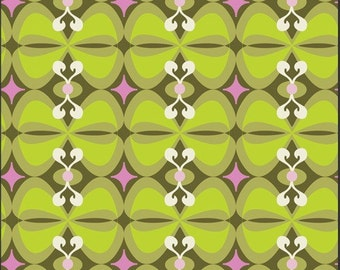Retro Bows Olive Girly Girl Pat Bravo Art Gallery Fabrics GIG603