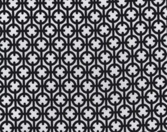 Black - Paula Prass Summer Soiree Cufflink - Michael Miller - 4159 100% Quilters Cotton Available in Yards, Half Yards and Fat Quarters